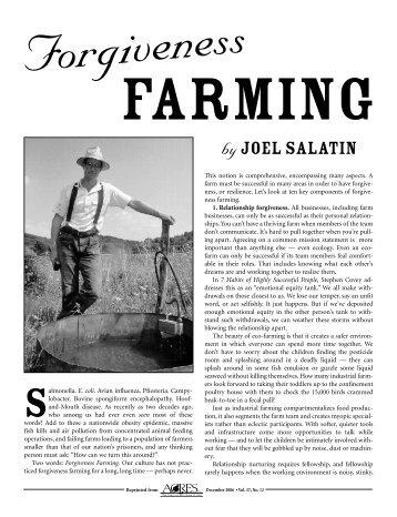 Forgiveness Farming - Acres USA