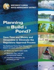Planning to Build a Pond? (Farm Pond Brochure - Northwest Florida ...