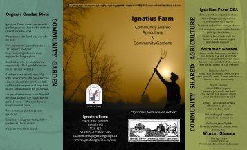 Ignatius Farm Brochure - Ignatius Jesuit Centre