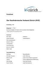 Factsheet Der Kaufmännische Verband Zürich (KVZ) - panta rhei pr