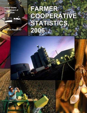 farmer cooperative statistics, 2006 farmer cooperative statistics, 2006