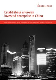 Establishing a foreign invested enterprise in China - Norton Rose