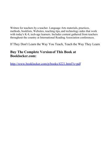 If They Don't Learn - The Book Locker - BookLocker.com