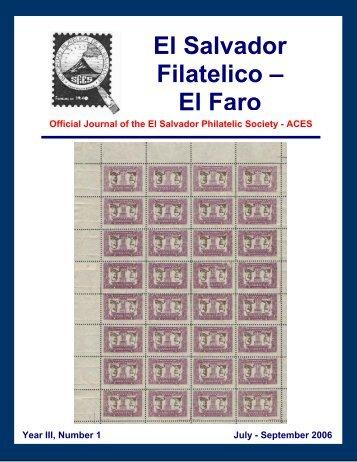 El Salvador Filatelico – El Faro - Sociedad Filatelica de El Salvador
