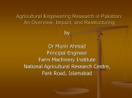 Agricultural Engineering Research in Pakistan: An ... - Unapcaem.org