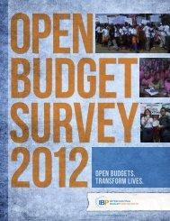 Open Budget Survey 2012 - International Budget Partnership