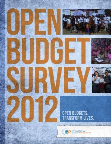 Open Budget Survey 2012 - International Budget Partnership