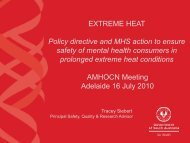 EXTREME HEAT Policy directive and MHS action to ensure safety of ...