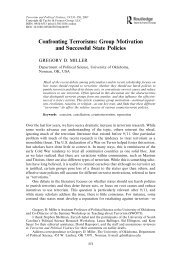 Confronting Terrorisms: Group Motivation and Successful State ...