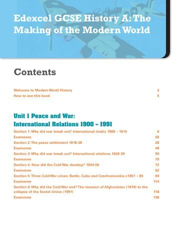 Edexcel GCSE History A: The Making of the ... - Pearson Schools