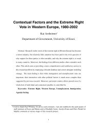 Contextual Factors and the Extreme Right Vote in ... - Kai Arzheimer