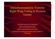 Mehrebenenanalyse: Extreme Right-Wing Voting in ... - Kai Arzheimer