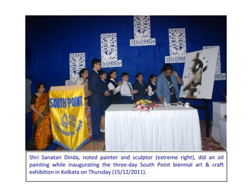 Shri Sanatan Dinda, noted painter and sculptor (extreme