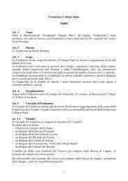 """""""Fondazione Collegio Papio"""" (di seguito """"Fondazione"""