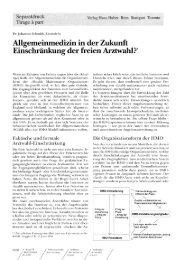 Schmidt J. Allgemeinmedizin in der Zukunft - Stiftung Paracelsus heute