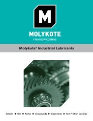 Molykote® Industrial Lubricants - Dow Corning