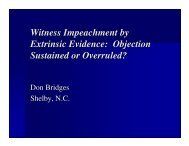 Witness Impeachment by Extrinsic Evidence: Objection Sustained or ...