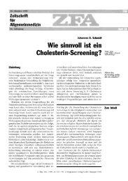 Schmidt JG. Wie sinnvoll ist ein Cholesterin-Screening
