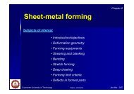 Chapter 6 – Sheet-metal Forming