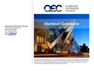 Aluminum Extrusions - Aluminum Extruders Council
