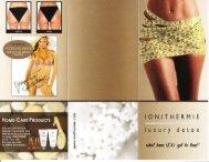 IONITHERMIE Brochure - 7th Avenue Salon ~ Spa