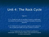 Unit 4: The Rock Cycle - Ann Arbor Earth Science