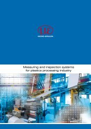 Measuring and inspection systems for plastics ... - Micro-Epsilon