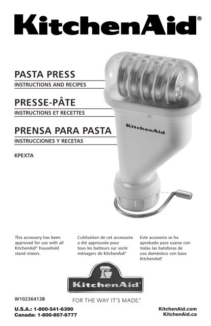 KitchenAid Pasta Press - Model KPEXTA