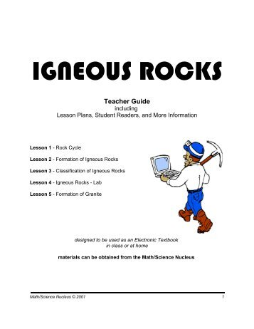 IGNEOUS ROCKS - Math/Science Nucleus