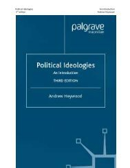 Political Ideologies An Introduction 3rd edition Andrew ... - Call me ghe