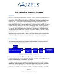 Melt Extrusion: The Basic Process - Zeus Industrial Products, Inc.