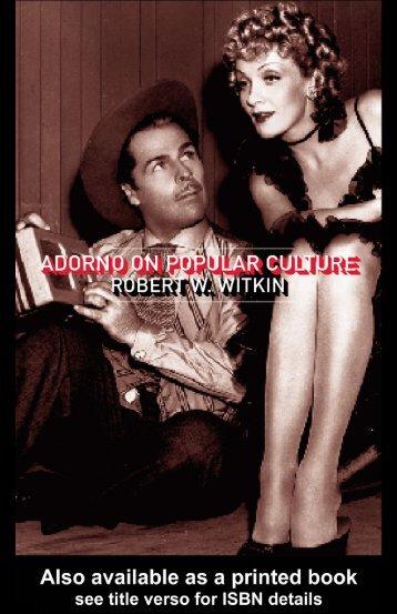 Adorno On Popular Culture