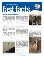 Storage in Corridors and Exit Pathways - Office of Compliance