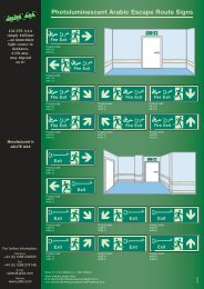 Photoluminescent Arabic Escape Route Signs - Jalite Group