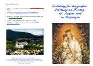 Einladung für den großen Gebetstag am Freitag 13. August 2010 in ...