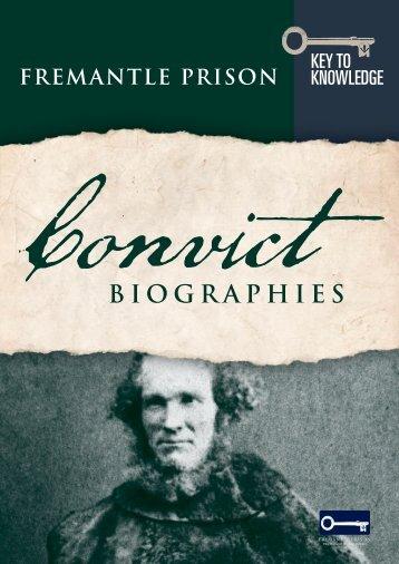 Convict Biographies - Fremantle Prison