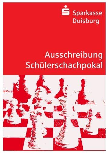 Ausschreibung Schülerschachpokal - Sparkasse Duisburg