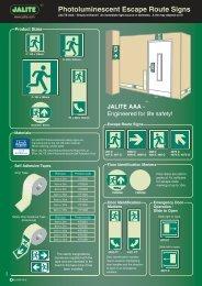Photoluminescent Escape Route Signs - JALITE Marine