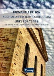planning a school excursion - Fremantle Prison
