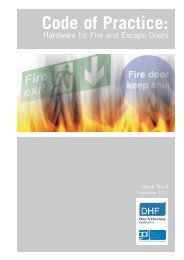 Code of Practice: Hardware for Fire and Escape