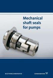 Mechanical shaft seals for pumps - Grundfos