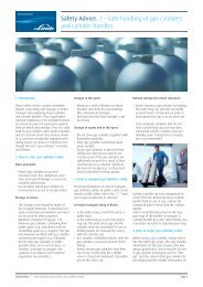 Safety Advice. 7 – Safe handling of gas cylinders and cylinder ...
