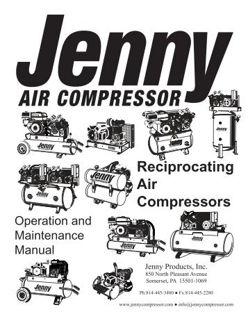 Reciprocating Air Compressors - Jenny Products