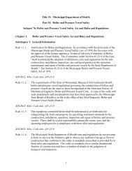 Title 15 - Mississippi Department of Health - Mississippi State ...