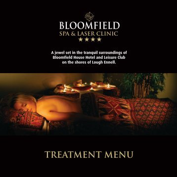 TREATMENT MENU - Bloomfield House Hotel, Mullingar