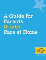 Gastrostomy Care for G-tubes - Children's Hospitals and Clinics of ...