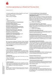 Versicherungsbedingungen - Sparkasse Darmstadt