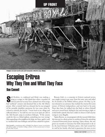 Escaping Eritrea - Dan Connell