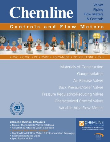 Controls and Flow Meters - Chemline Plastics Limited