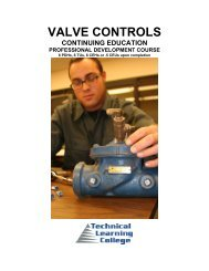 VALVE CONTROLS - Technical Learning College